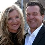 Thomas Feurer und seine Gattin Bea Petri Feurer bei der Wahlfeier auf dem Munot.